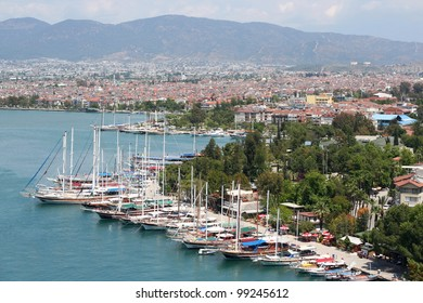 Yachts in the Port of Fethiye