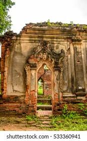 Yadana Hsemee Pagoda, Inwa, Mandalay Region, Burma. One of the attractions for tourists