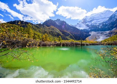 Yading Nature Reserve in Autumn, the way to Pearl Lake, Sichuan, Yunnan, China