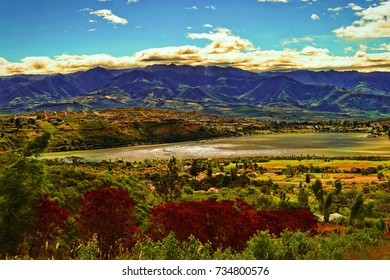 Yaguarcocha Lake, Ecuador