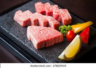 Yakiniku Wagyu beef a5, Japanese food