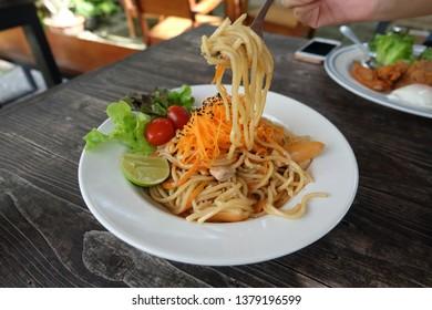 YakiSoba Japanese Food in cafe