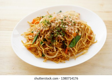 Yakisoba. Japanese fried noodles.
