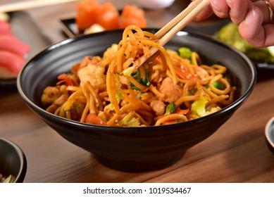 Yakisoba noodles bowl
