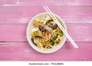 Yakisoba / Stir fry Japanese noodle  / cooking Yakisoba (Fried Japanese noodle) concept