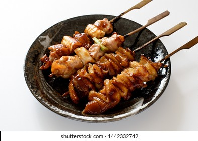 """""""Yakitori"""" Grilled and skewered chicken"""