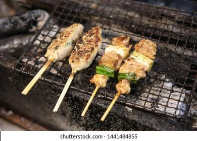 Yakitori in Japan - Chicken on Japanese Yakitori Grill