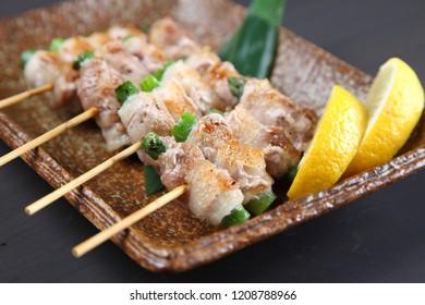 Yakitori Japanese chicken barbecue skewers