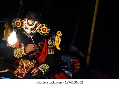 Yakshagana artist with his make up