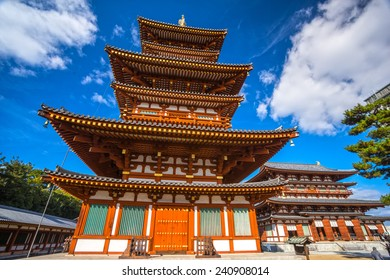 Yakushi-ji Temple in Nara, Unesco world Heritage site, Japan