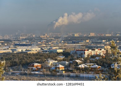 Yakutsk is the capital city of the Sakha Republic, Russia, located about 450 kilometers south of the Arctic Circle.