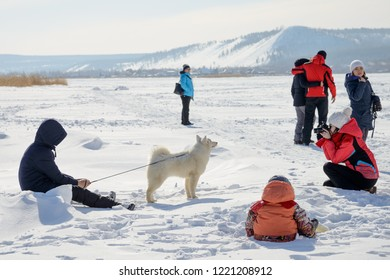 Yakutsk, Republic of Sakha (Yakutia)/Russia-March 20 2016: on Festival of dog sledding competitions
