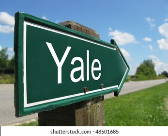 YALE road sign