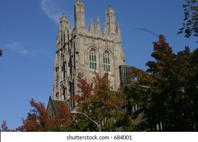 Yale Tower in Fall