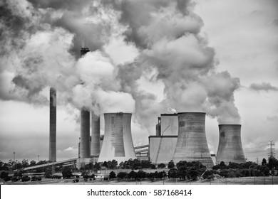 Yallourn Coal Fired Power Plant in Victoria, Australia