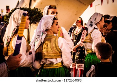 Yalova, Turkey - April 23, 2018: Friendly local folklore festival and charity event to raise cultural awareness with participation of Balkan Countries without media and press involvement