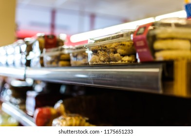 Yalova, Turkey - February 13, 2018: Interior of a typical Turkish grocery store concept with wide variety of products to offer several types of needs of th citizens located in Marmara region