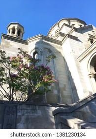 Yalta, Crimea / August, 2018: The old Armenian Orthodox Church in Yalta, Crimea.