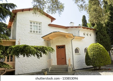 YALTA, CRIMEA - MAY 17: house-museum of Chekhov, where he lived in 1898-1904, May 17, 2012, in town Yalta, Crimea, has been opened in 1921.