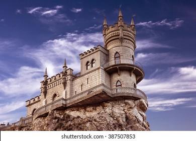 Yalta, Crimea, Russia. Old castle Swallow's nest