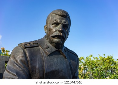 Yalta, Crimea-may 30, 2016: the monument by sculptor Zurab Tsereteli dedicated to the Yalta conference in 1945.
