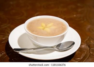 Yam paste ginkgo or orh nee ,traditional Malaysia dessert popular among Chinese Teochew