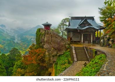 Yamadera Temple during Autumn in Yamagata, Japan