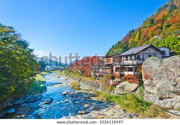 Yamadera town in Yamagata prefecture, Tohoku, Japan.