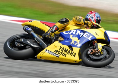 Yamaha Camel taking a lap in Practise session in Sepang Malaysia