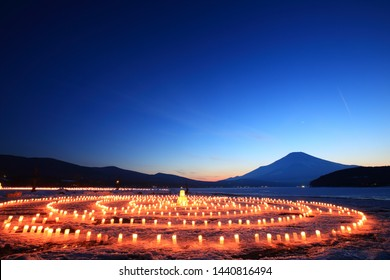 Yamanakako ice candle Festival in Yamanashi Prefecture (Ice Candles Festival)