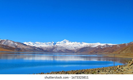 Yamdrok Lake is a freshwater lake in Tibet, it is one of the three largest sacred lakes in Tibet. It is over 72 km long. The lake is surrounded by many snow mountain