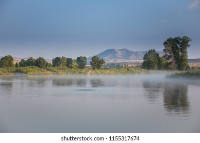 Yampa River With Cedar Mountain in Northwest Colorado From Loudy Simpson Park