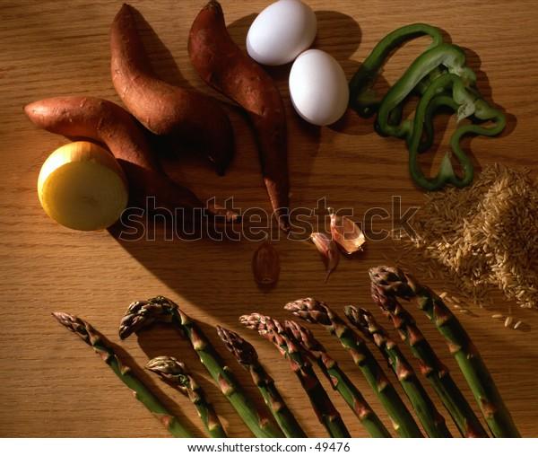 Yams and Asparagus