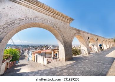 Plaza Yanahuara, punto de vista de la ciudad de Arequipa
