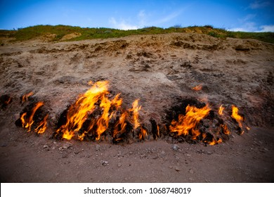 Yanardag, naturally burning mountain in Azerbaijan