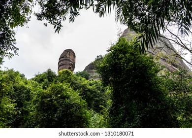 Yang Yuan Stone of  the famous Mount Danxia, Guangdong, China
