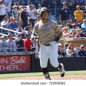 Yangervis Solarte 2nd baseman for the San Diego Padres at Petco Park in San Diego California USA September 23,2017.