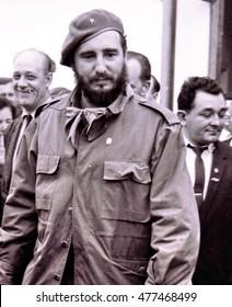 Yangiyer, Uzbekistan - May 10, 1963:  Fidel Castro