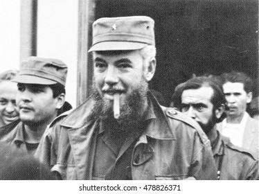 Yangiyer, Uzbekistan - May 10, 1963: Cuban Comandante Rene Vallejo.