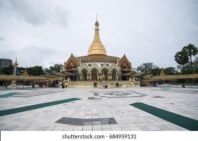 Yangon Myanmar 2017 ,on 15 July 2017 Beautiful Kaba Aye Pagoda in Yangon Myanmar