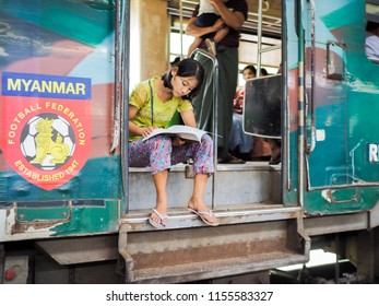 Yangon Circular Train Images, Stock Photos & Vectors