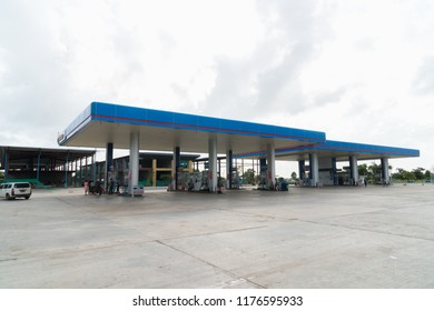 Yangon, Myanmar - August 19, 2018: PT power gas station in Yangon, Myanmar