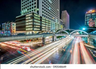 YANGON, MYANMAR - FEB 05, 2017: Traffic in the city center