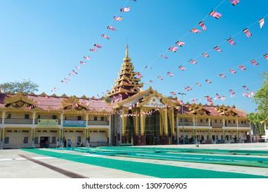 Yangon, Myanmar - Jan 20 2019- Botataung Pagoda. a famous historic site in Yangon, Myanmar.
