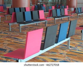 YANGON, MYANMAR - JULY 26, 2016 : Yangon International Airport Interior in Yangon. It is the primary and travel, busiest international airport of Myanmar.