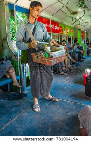 Yangon Myanmar Oct 22 2017 Seller Stock Photo (Edit Now) 781004194