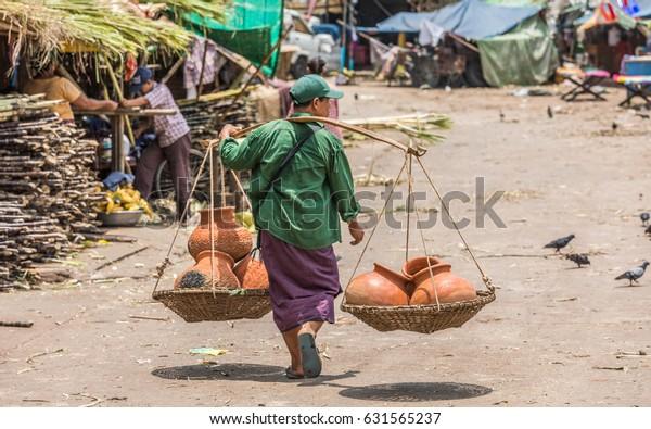 Yangon Rangoon Myanmar Burma April 30 Stock Photo (Edit Now