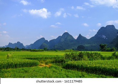 Yangshuo natural karst landscape, Guilin, Guangxi Province, China