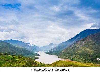 Yangtze river flow, Shangri-la