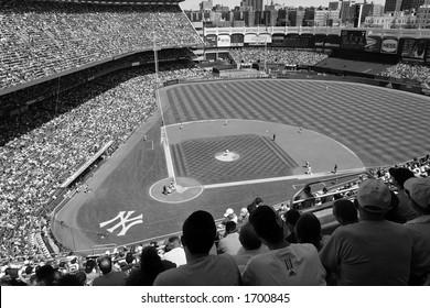 Yankee Stadium (black and white)